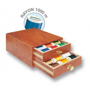 Шкатулка с вышивальными нитками Rayon 1000м Madeira 8111