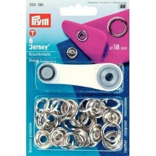 """Кнопки """"Джерси"""" серебристые, 18 мм PRYM 390195"""